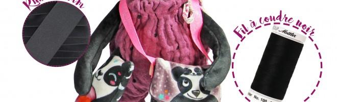 Le kit peluche panda par Laëtibricole