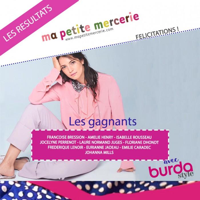 Un grand jeu concours chez Ma Petite Mercerie avec Burda style pour gagner les patrons de l'émission M6 cousu main