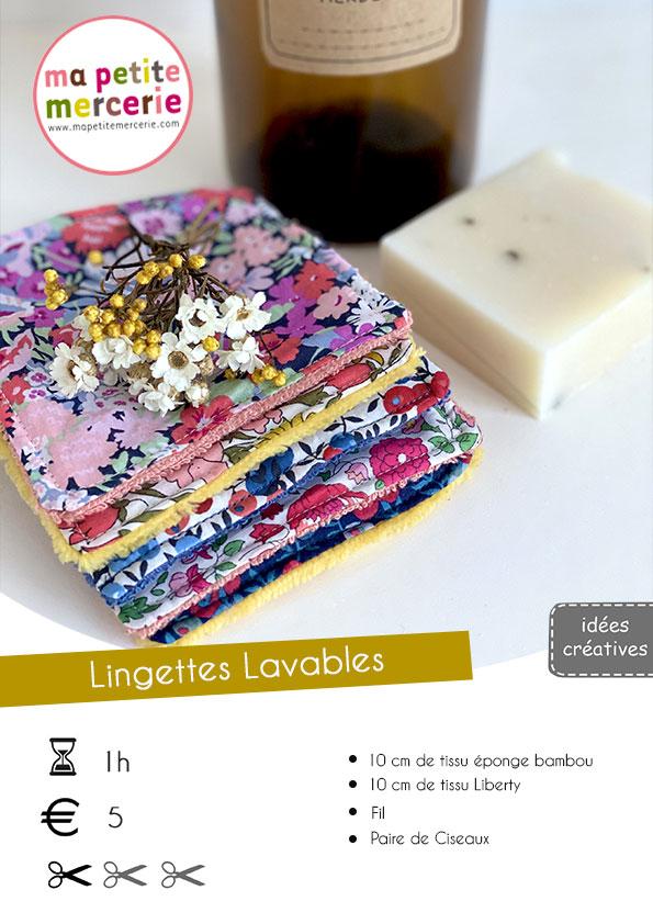 Tuto Lingettes Lavables