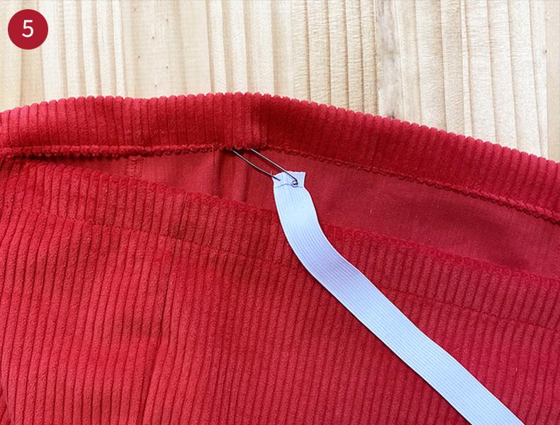 Comment coudre une ceinture élastique short