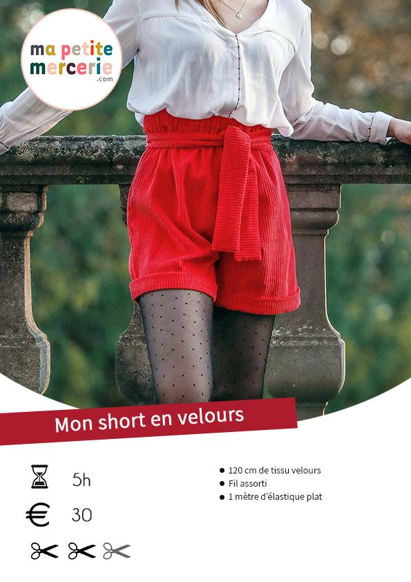 Tuto patron short femme gratuit pdf