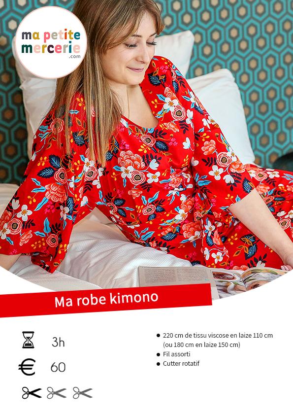 Tuto facile robe kimono sans patron