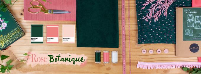 Bannière Rose Botanique - Tendance Couture Février 2021