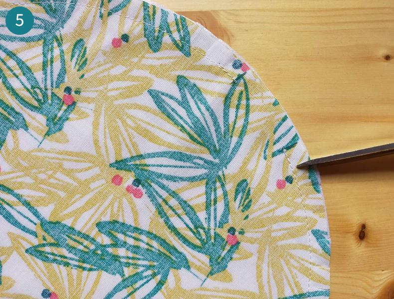cranter le couvre plat tissu