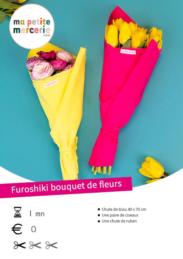 emballage bouquet de fleurs zero dechet