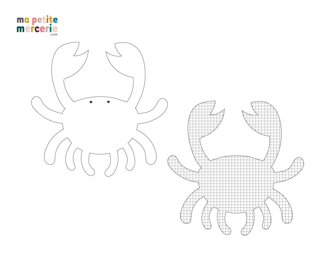 schema patron doudou crabe