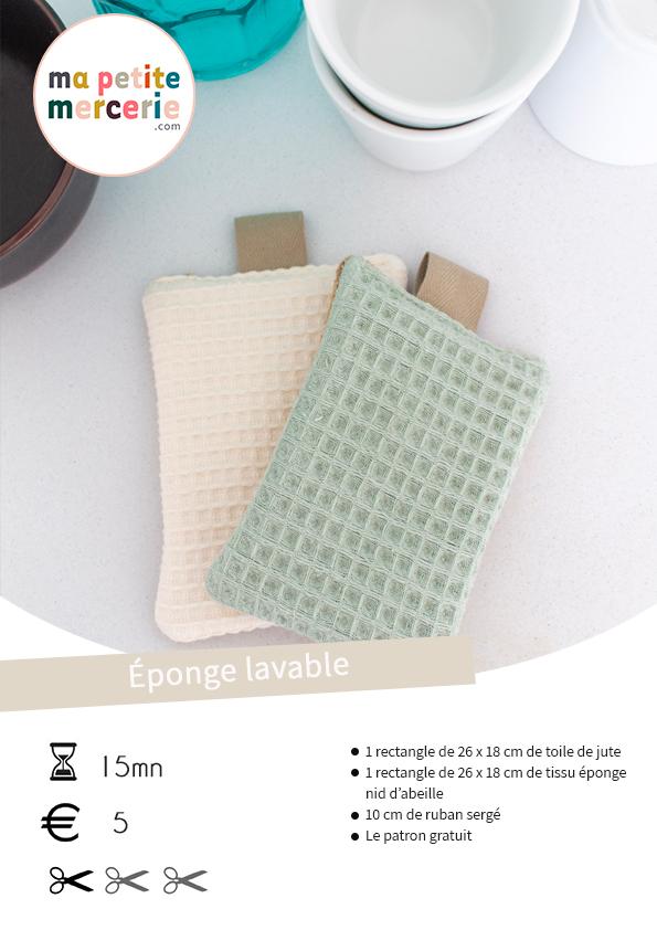 Eponge lavable tuto