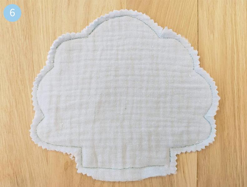 ciseau cranteur coudre lingettes lavables pour bébé
