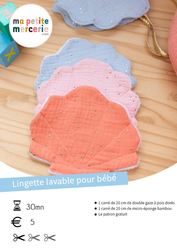 tuto lingette lavable pour bébé