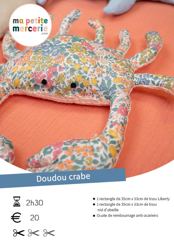 tuto doudou crabe