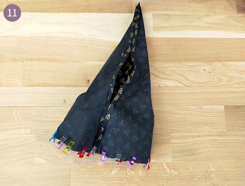 assemblage intérieur du chapeau de sorcière