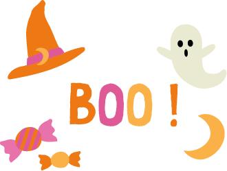 "Broderie Halloween Modèle ""Boo!"""
